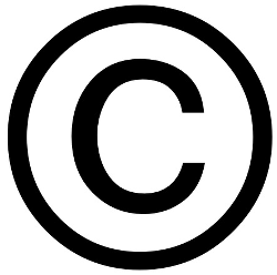 Your basic copyright symbol for tutorial